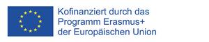 Europaflagge mit Text zur Kofinanzierung durch die Europäische Union