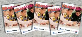 Titelbilder der Broschüre in Reihe